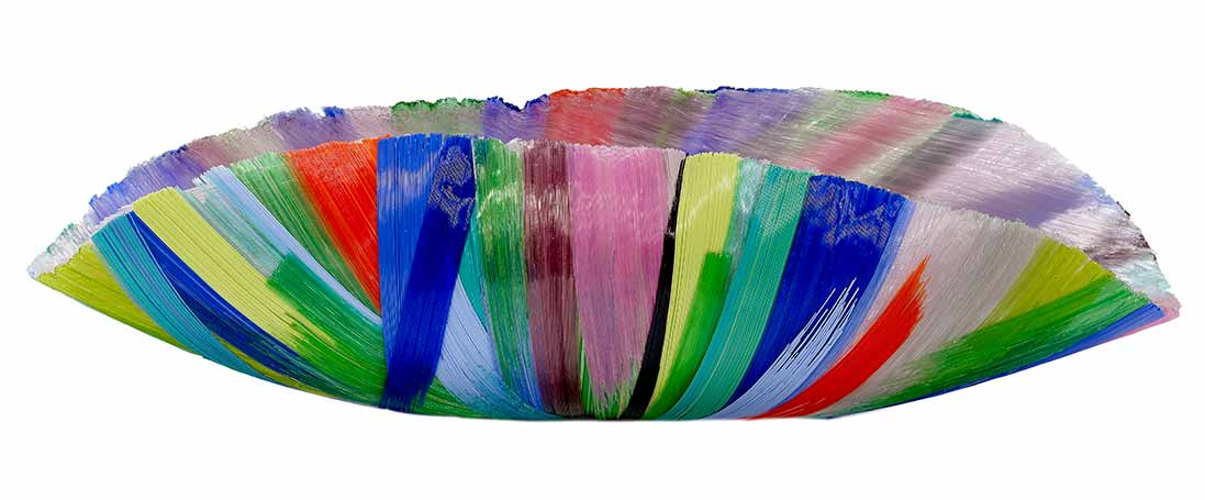 Rainbow Color Curved Bowl