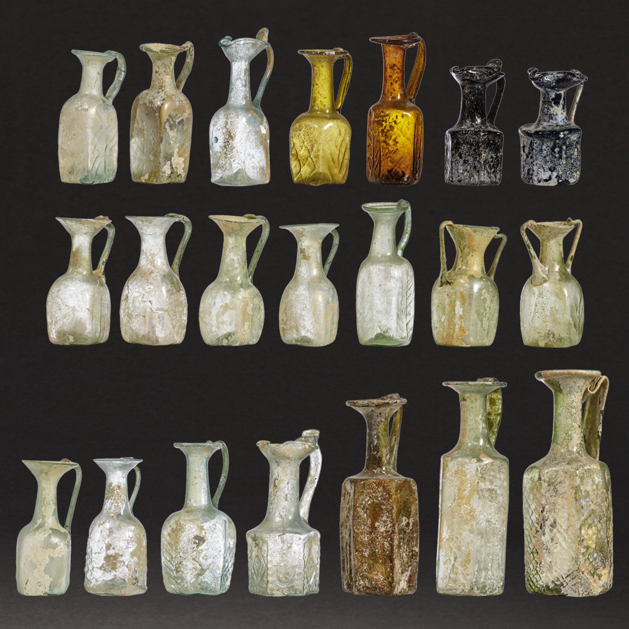 21 Late Roman and Early Byzantine Glass Vessels