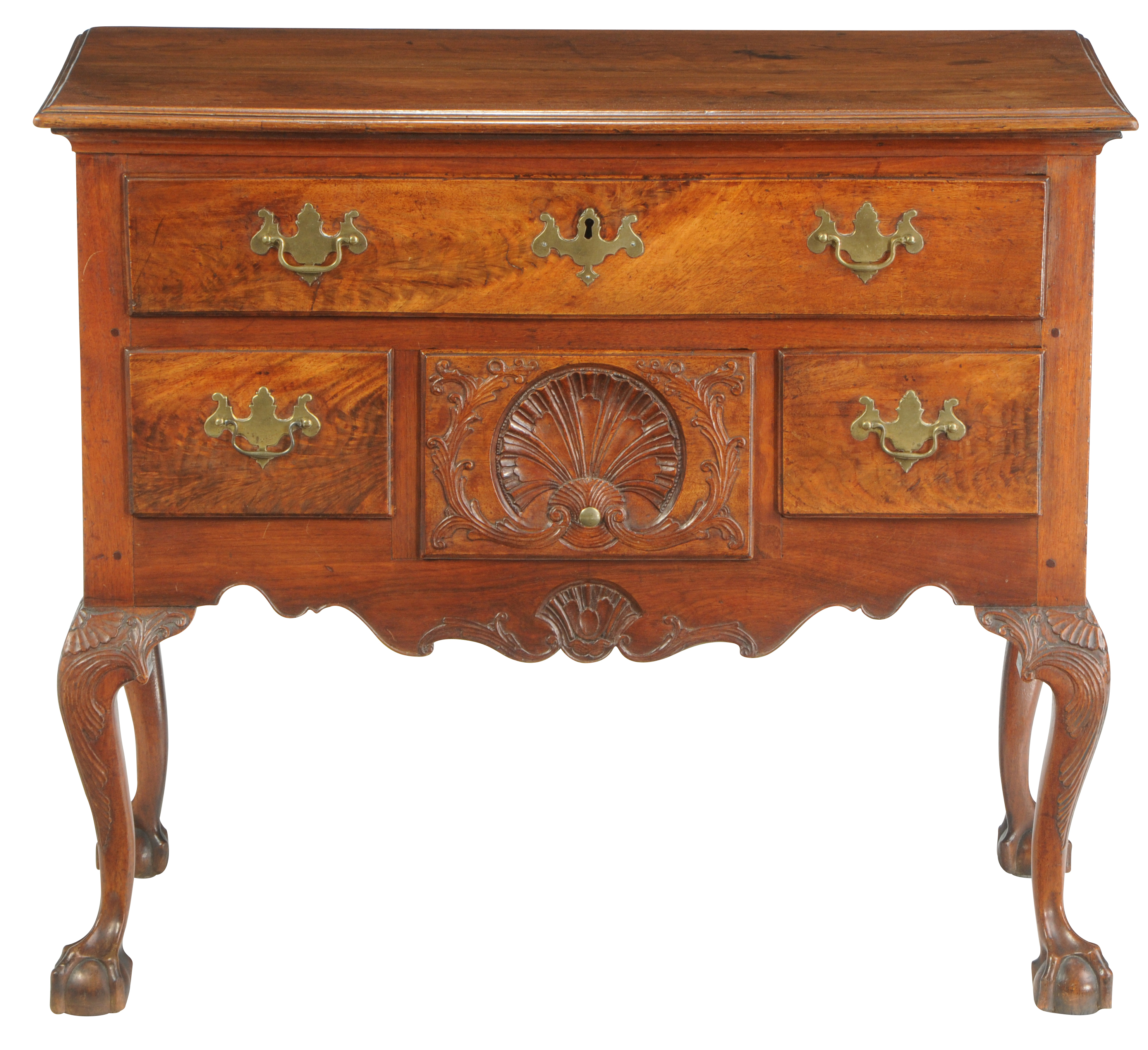 American Chippendale Walnut Dressing Table