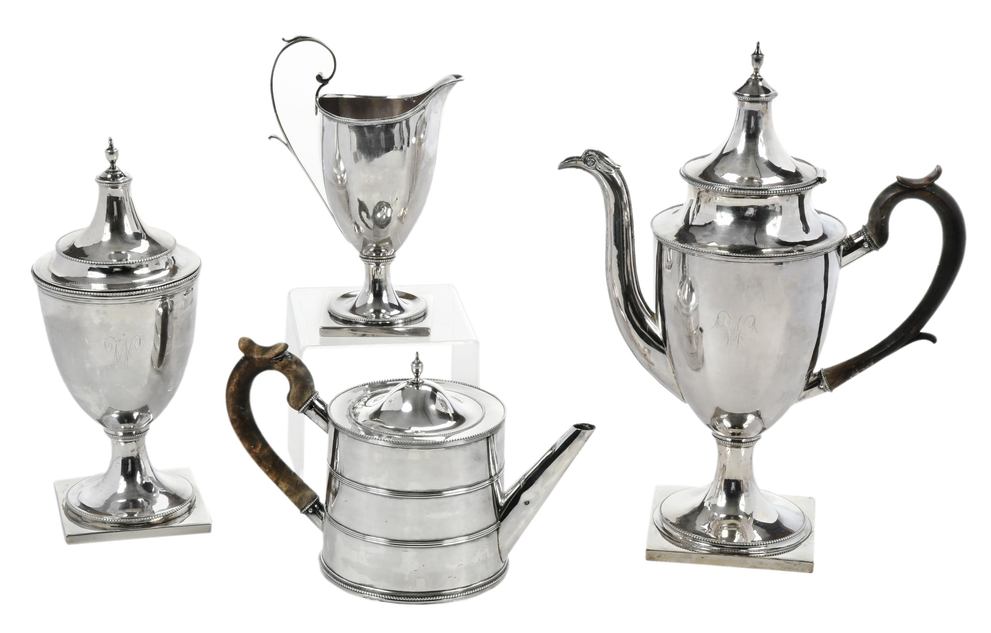 Rare George Hendel Coin Silver Tea Service