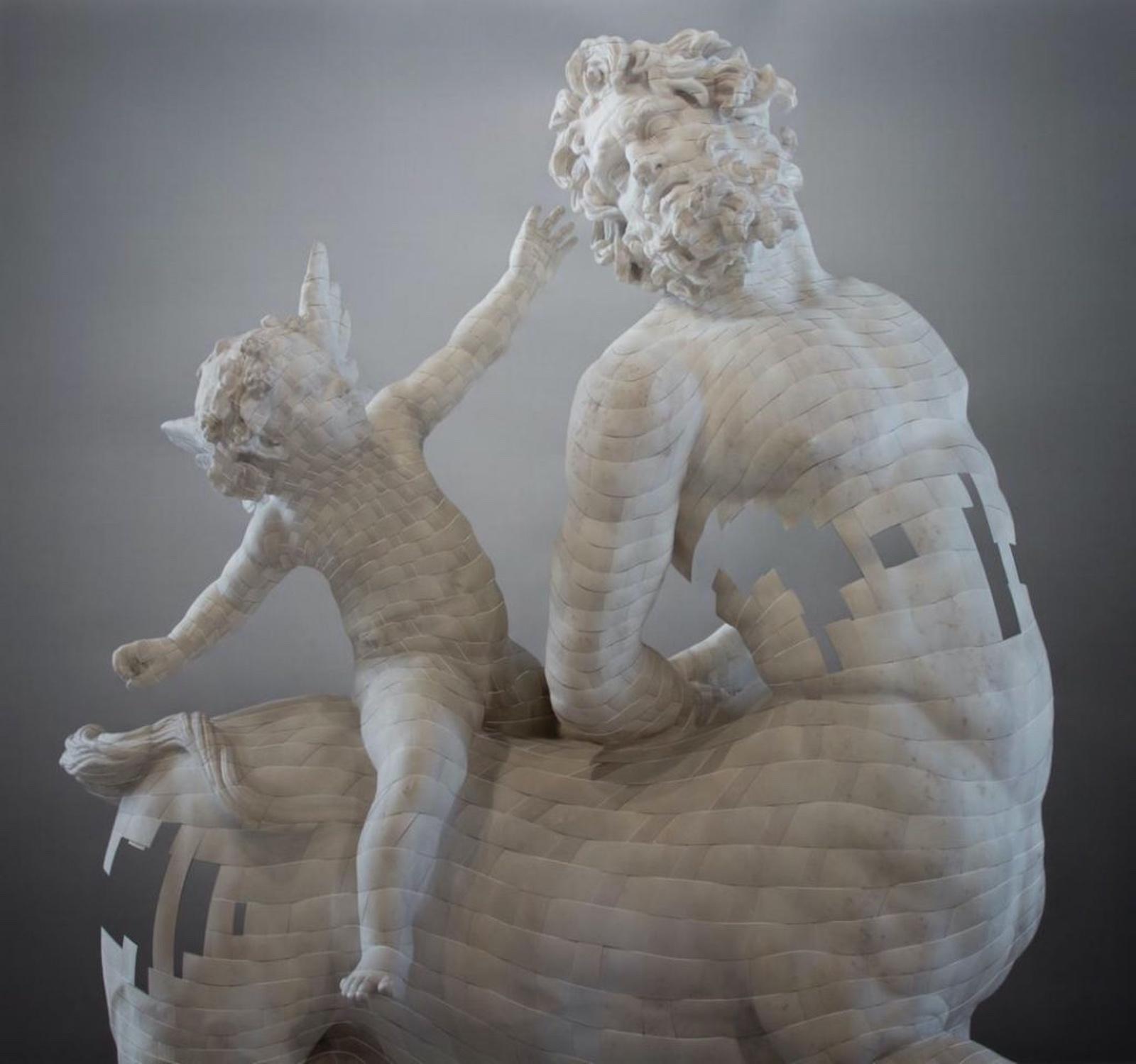 Centauro cabalgado por Eros