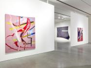 Installation view of Julian Schnabel: The Patch of Blue the Prisoner Calls the Sky at Pace Gallery.