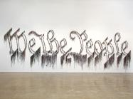 Nari Ward, We the People, 2011. Shoelaces, 96 x 324 in (243.8 × 594.4 cm). In collaboration with the Fabric Workshop and Museum, Philadelphia. Collection Speed Art Museum, Louisville, KY; Gift of the Speed Contemporary, 2016.1. © The Speed Art Museum, Louisville, KY (pages 124-125)