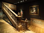 Installation view of The Met's New British Galleries, 17th Century Gallery, Cassiobury Staircase, February 2020.
