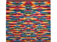 rainbow-colored patterned weaving