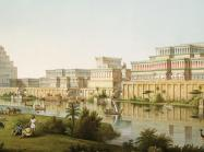 Assyrian City by the river, artist rendering