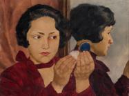 Lotte Laserstein, Russian Girl With Compact, 1928, oil on panel