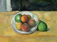 Cezanne still life of peaches and pears