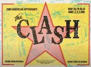 Graffiti on The Clash poster