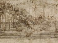 Leonardo, study for the unfinished Adoration of the Magi , ca. 1481.