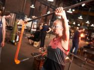 Glass blowers at the Corning Museum of Glass