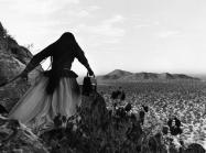Graciela Iturbide, Angel Woman, Sonora Desert, Mexico, 1979 (printed later). Gelatin-silver print.