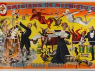 brightly colored poster advertising a magic show