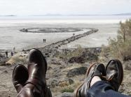 Looking out over Robert Smithson's Spiral Jetty