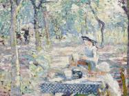 Joseph Raphael (1869-1950), Tea in the Orchard, oil on canvas. Painted circa 1916. Price realized: $548,075. WORLD AUCTION RECORD FOR THE ARTIST.