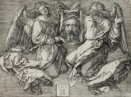Albrecht Dürer (German, 1471 - 1528), The Sudarium, Displayed by Two Angels, 1513. Engraving. Los Angeles County Museum of Art, Los Angeles County Fund.