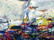 Joan Mitchell, City Landscape, 1955, oil on linen, 203.2 × 203.2 cm (Art Institute of Chicago 1958.193, ©The Estate of Joan Mitchell),