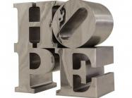 Robert Indiana, Hope, Polished stainless steel, 36 x 36 x 18 in, Executed in 2009, Edition 2 of 8.