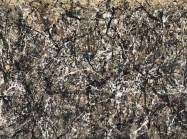 Detail of Jackson Pollock painting