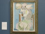 Picasso painting hanging in museum exhibition