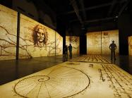 a powerful and vibrant symphony of light, color and sound immerses you in Leonardo's genius.