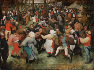 Pieter Bruegel the Elder (Netherlandish), The Wedding Dance, 1566. Oil on wood panel.