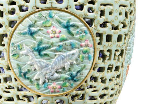 Priceless Qing Reticulated Vase Comes To Auction Art And Object