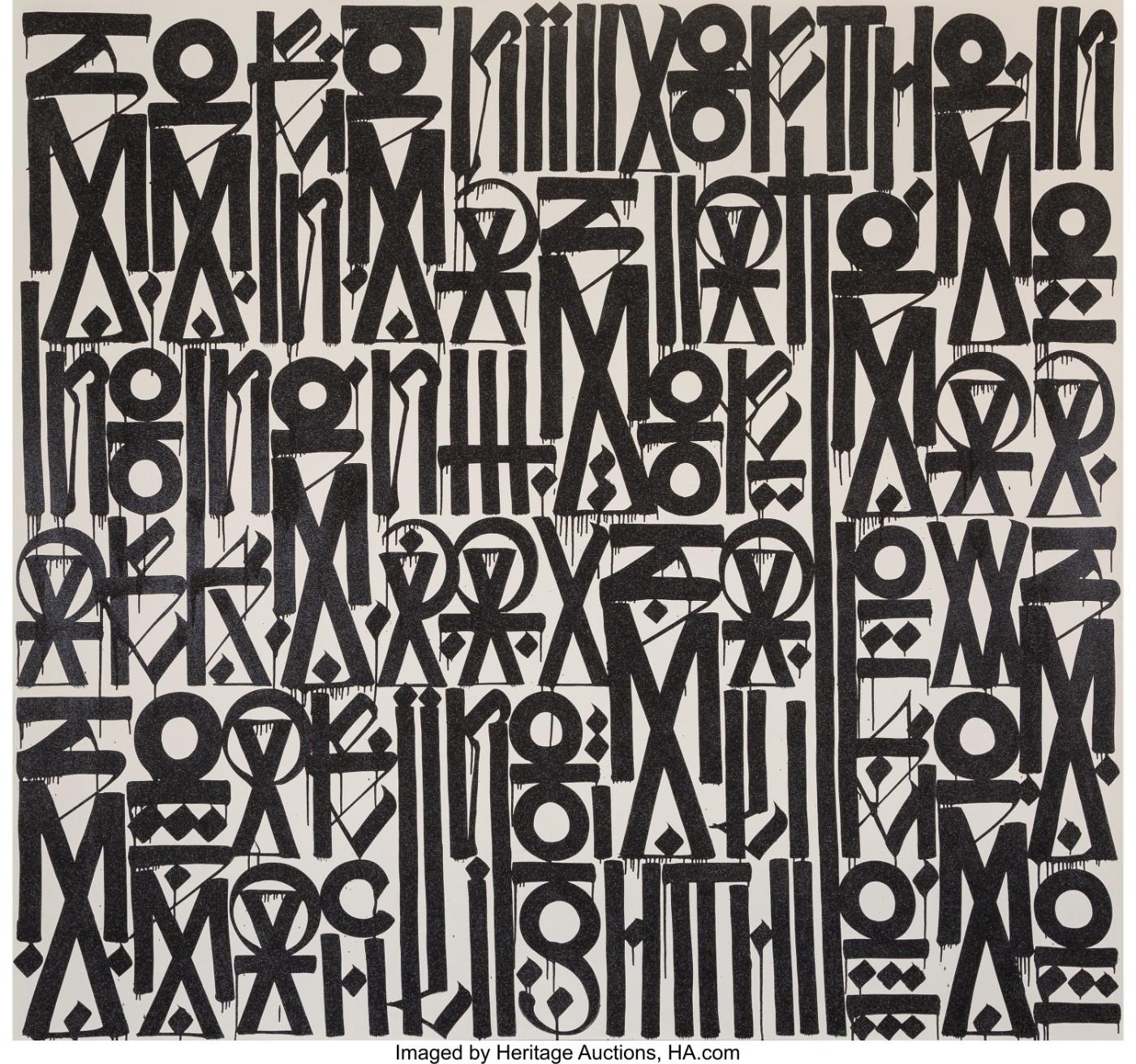 Largest Artwork by RETNA Sets New Artist Auction Record   Art & Object