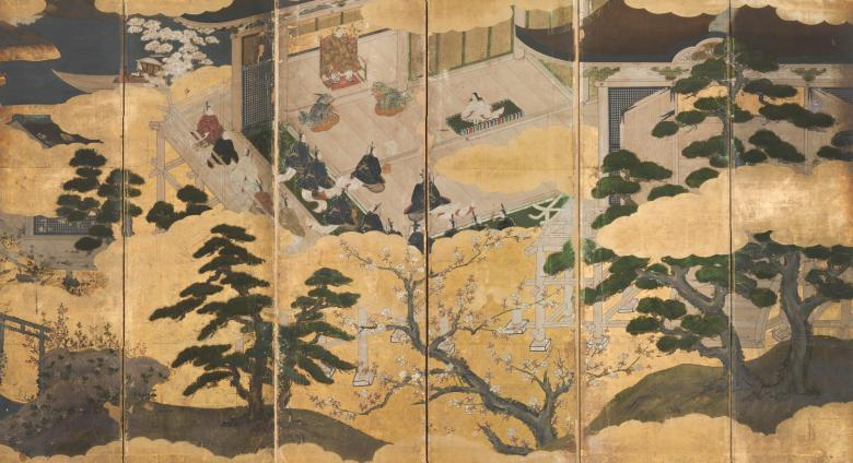 Chiyo Mitsuhisa (attr., active late 16th Century), Japan, Presentation of a Prince, Momoyama period (1573–1615).