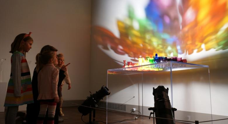A Rainbow Like You installed in the exhibition Katherine Gray: (Being) in a Hotshop at the Toledo Museum of Art
