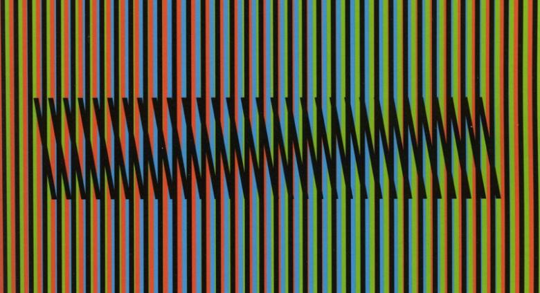 Carlos Cruz-Diez, Chromatic Induction at Double Frequency. A for Wörn, from Reflections on Color