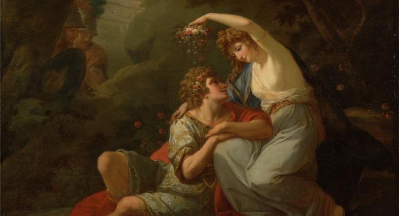 Angelica Kauffmann painting of two figures