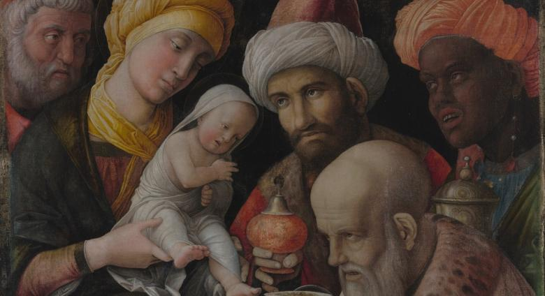 Andrea Mantegna (Italian, about 1431 - 1506), Adoration of the Magi, about 1495 - 1505. Distemper on linen.