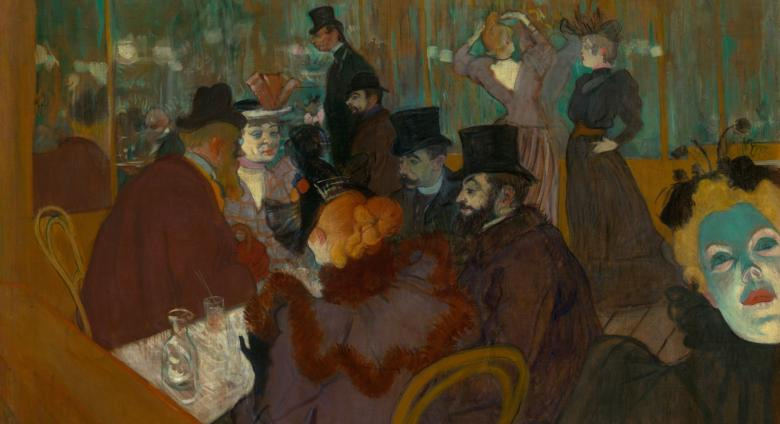 Henri de Toulouse-Lautrec, At the Moulin Rouge, 1892:95, Oil on Canvas, The Art Institute of Chicago