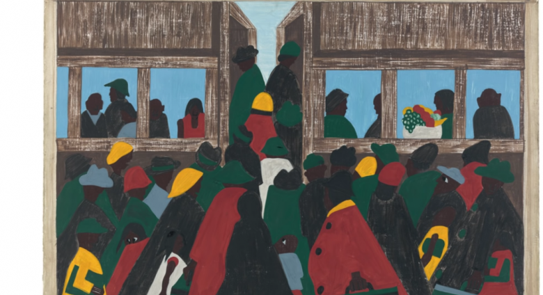 Jacob Lawrence migration painting