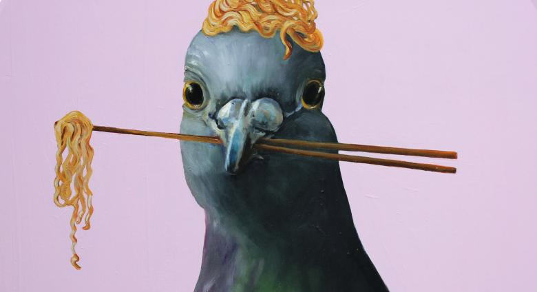 JJ Galloway, Pigeon with Ramen Nest VII