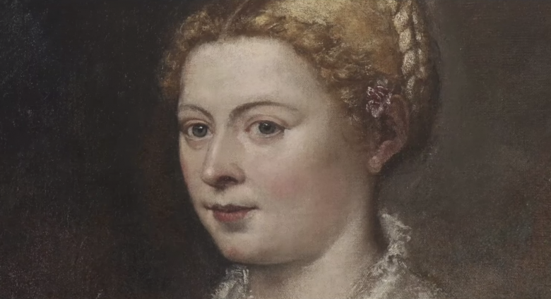 Detail of Portrait of a Lady and her Daughter