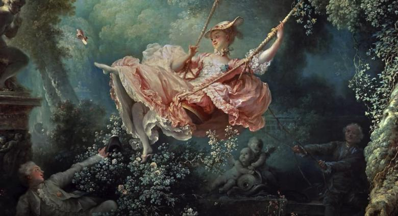 Jean-Honoré Fragonard, The Swing, 1767, oil on canvas, 81 x 64.2 cm (The Wallace Collection, London)