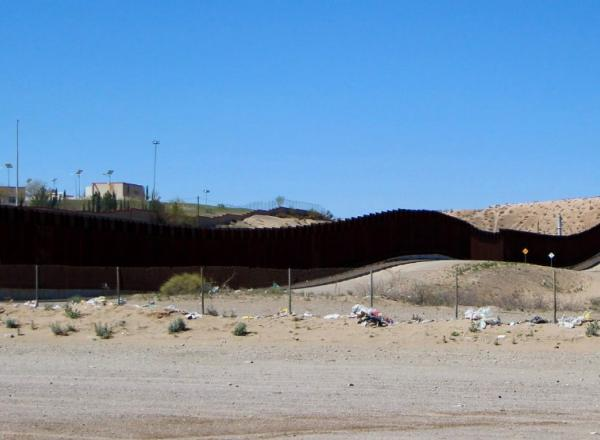 Border Wall at Ardovino's Desert Crossing, Sunland Park, New Mexico