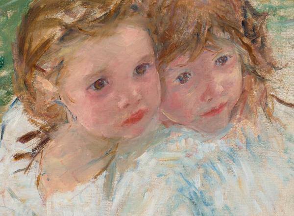 mary cassatt painting of two young girls