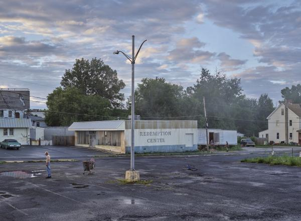 Gregory Crewdson photograph of a parking lot