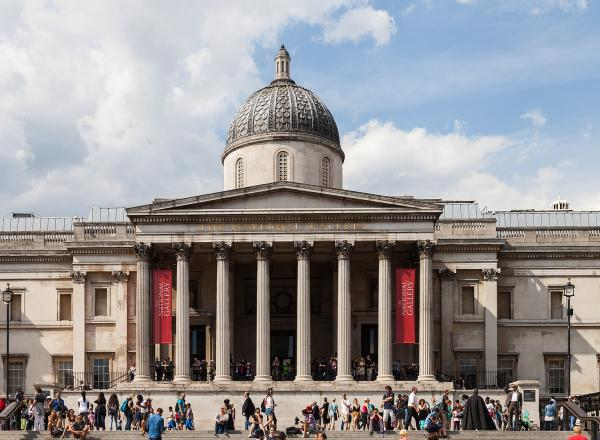 exterior of the national gallery london