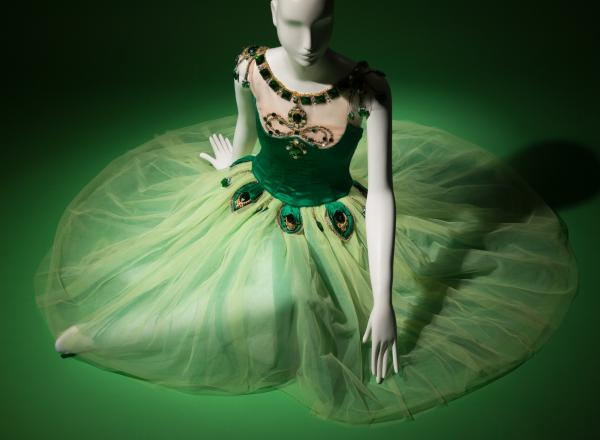 green and velvet tulle tutu dress