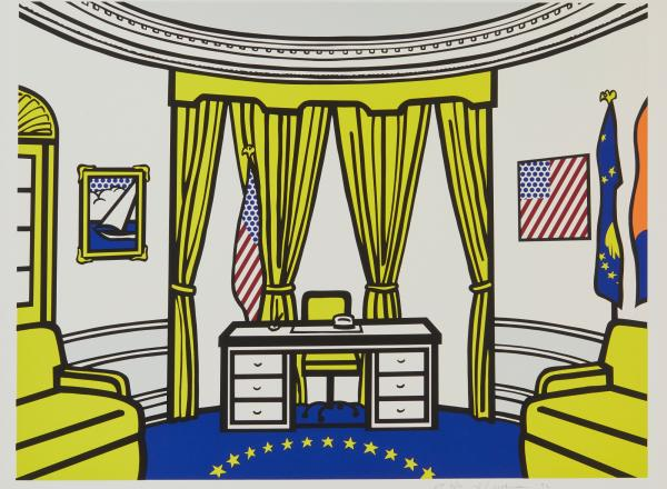 Roy Lichtenstein pop art print of the Oval Office