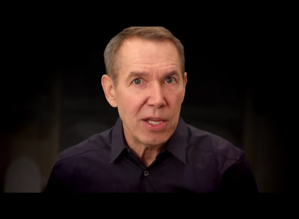 jeff koons talking in a movie