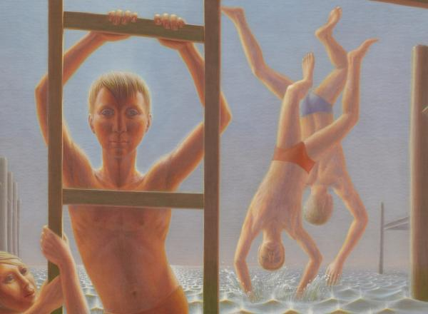 George Tooker, Divers, 1952