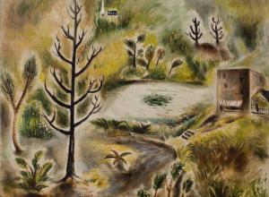 Yasuo Kuniyoshi landscape painting