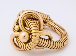 1940s Gold Gas Pipe Bracelet