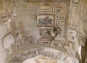Painted ceiling in the Domus Aurea