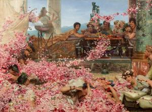 Alma-Tadema, The Roses of Heliogabalus, 1888. Oil on canvas.
